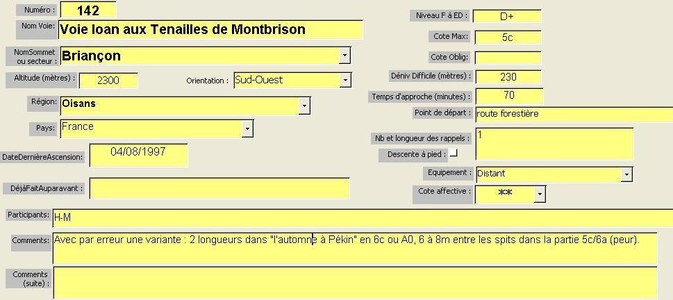 Voie Ioan, Tenailles de Montbrison, Briançon
