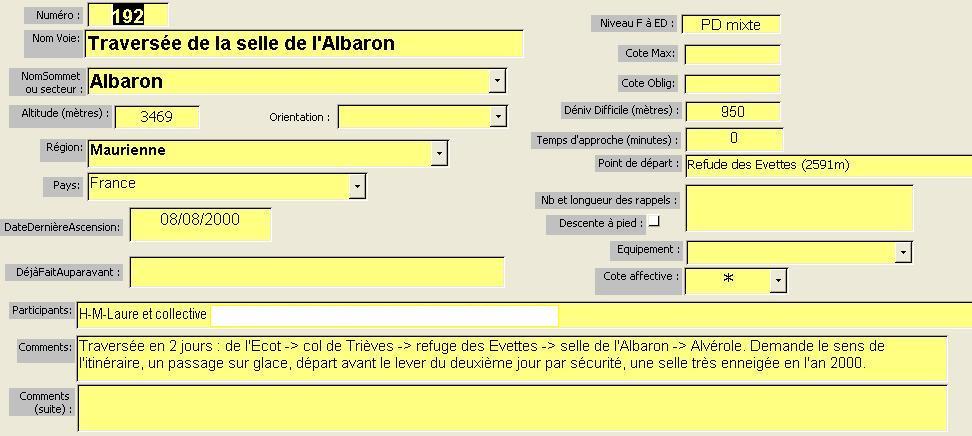 Traversée de la Selle de l`Albaron, Maurienne