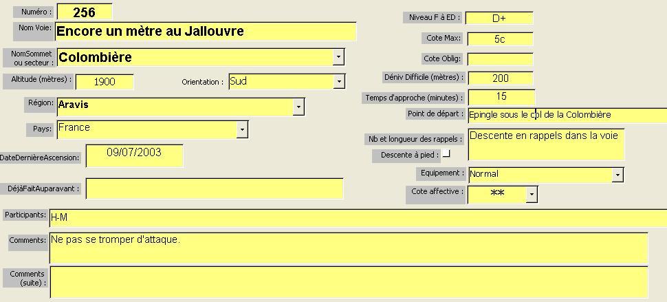 Voie Encore un mètre, Jallouvre, Aravis