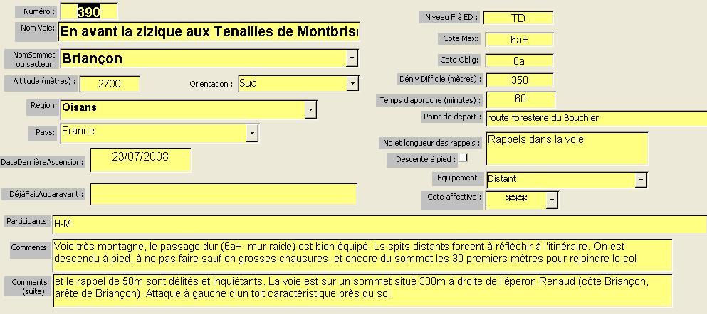 En avant la zizique, Tenailles de Montbrison, Briançon