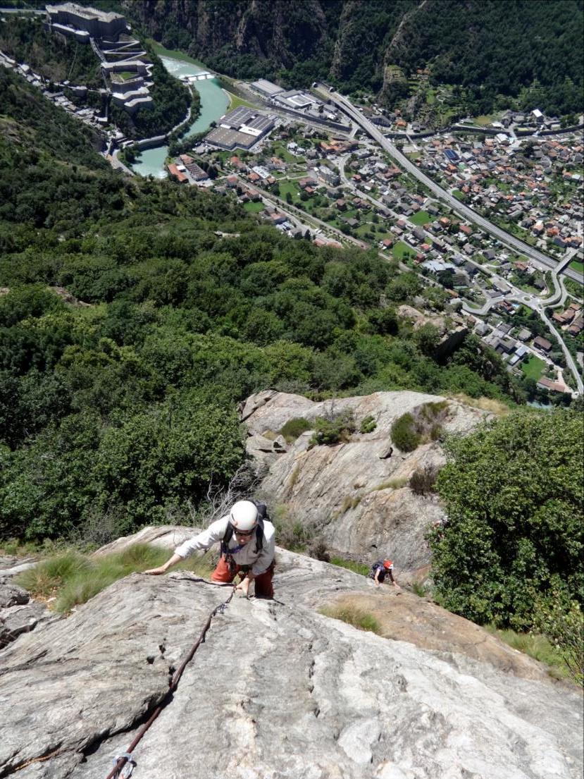 Monte Coudrey, voie Ragio di sole, Val d`Aoste