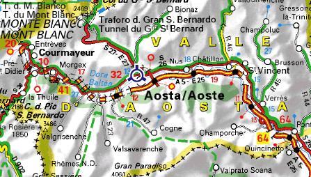 Carte du Val d`Aoste
