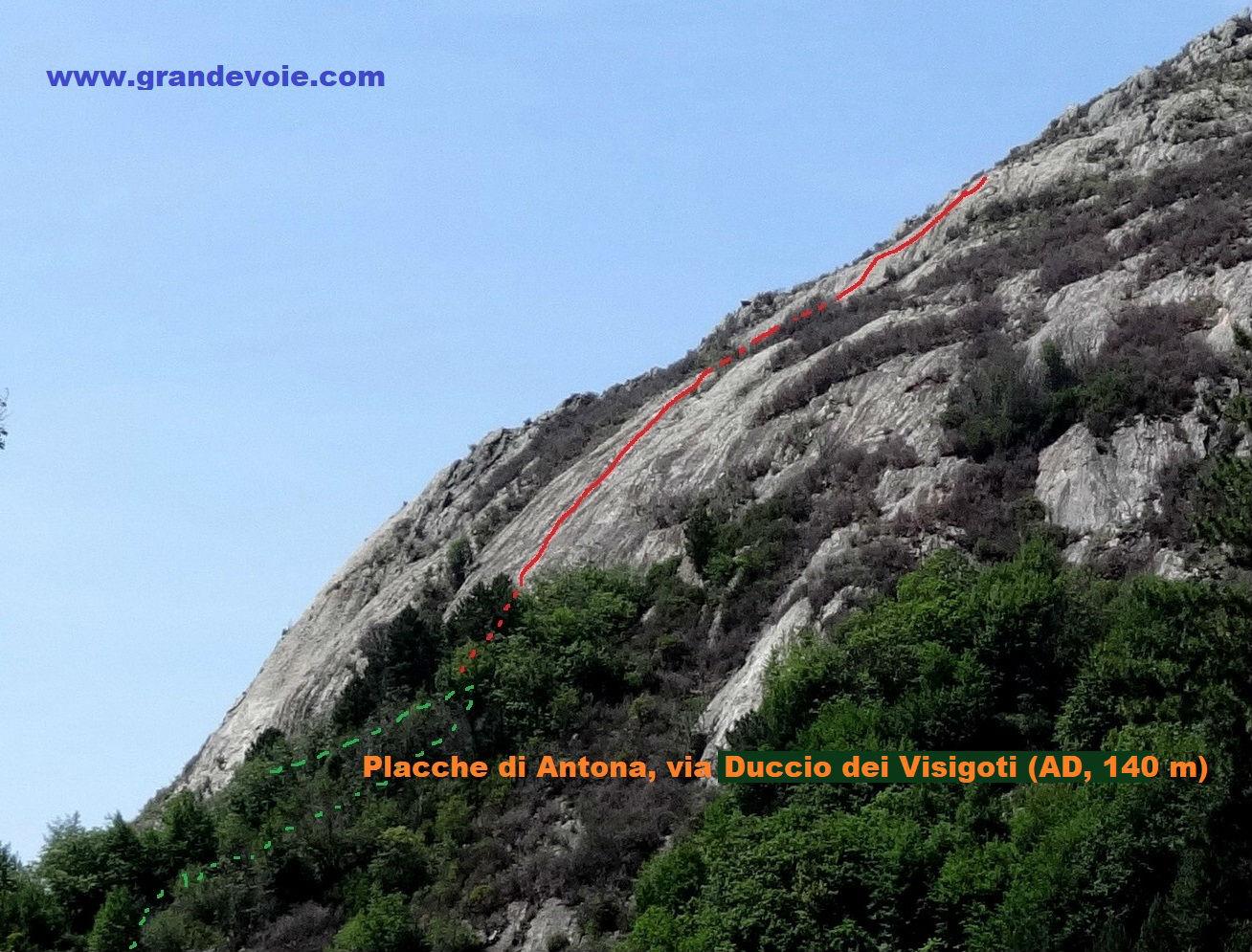 Placche Di Antona, voie Duccio dei visigoti, Toscane
