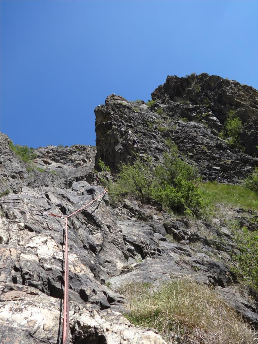 Arête de la cascade de Fréaux, près de La Grave, Oisans