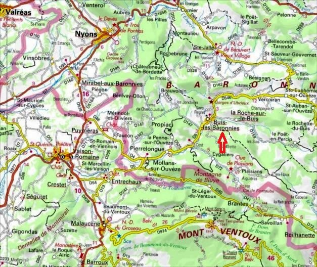 Grandes voies d`escalade à Buis-les-Baronnies