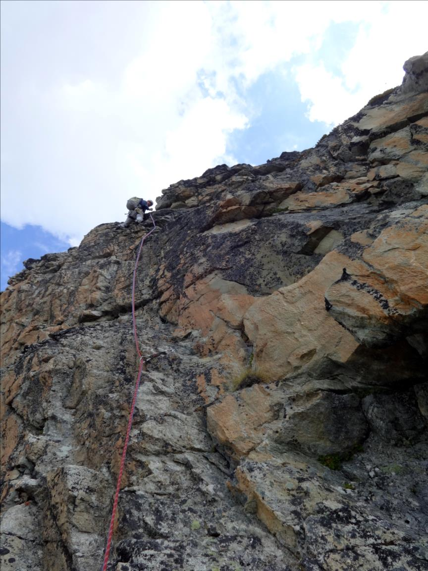 Pointe de Cerdosse, Le Pilier (longueur L3), Vanoise