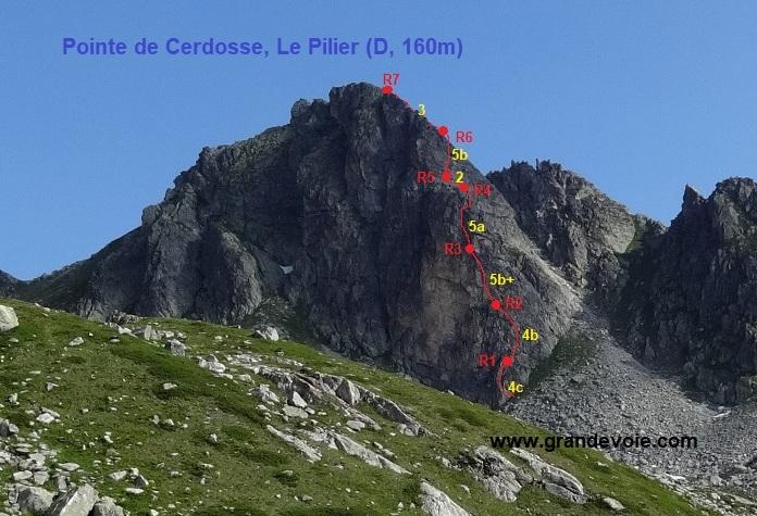Pointe de Cerdosse, Le Pilier, Vanoise