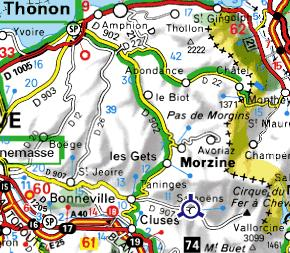 Carte du Chablais français