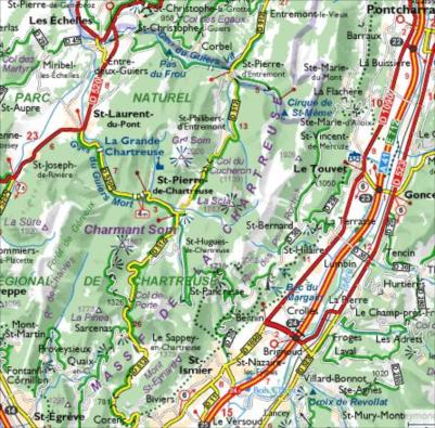 Carte de la Chartreuse