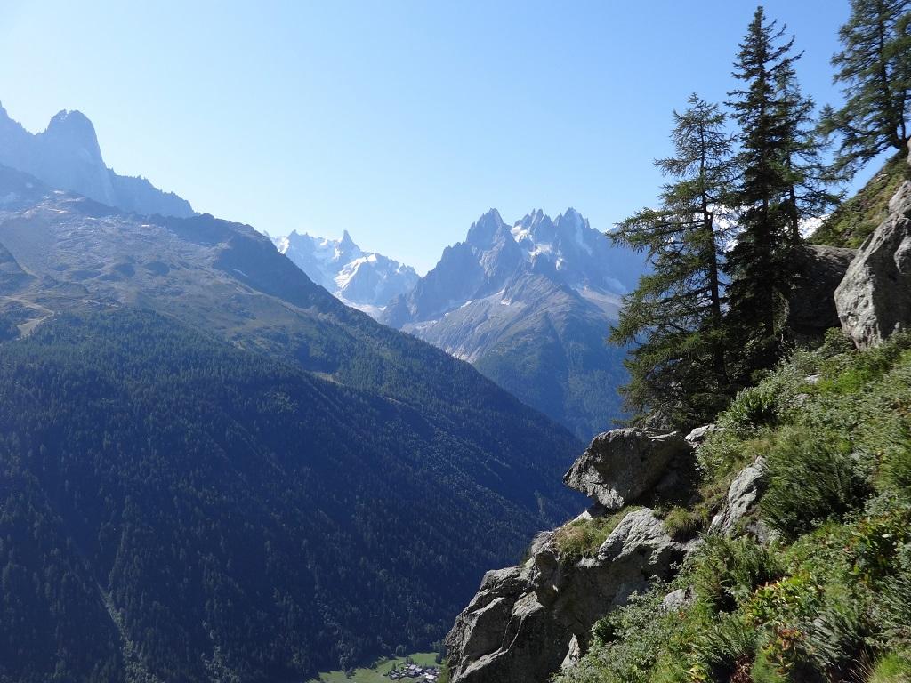 Les Chéserys, Panorama depuis la voie `Balade pour VV`, Chamonix