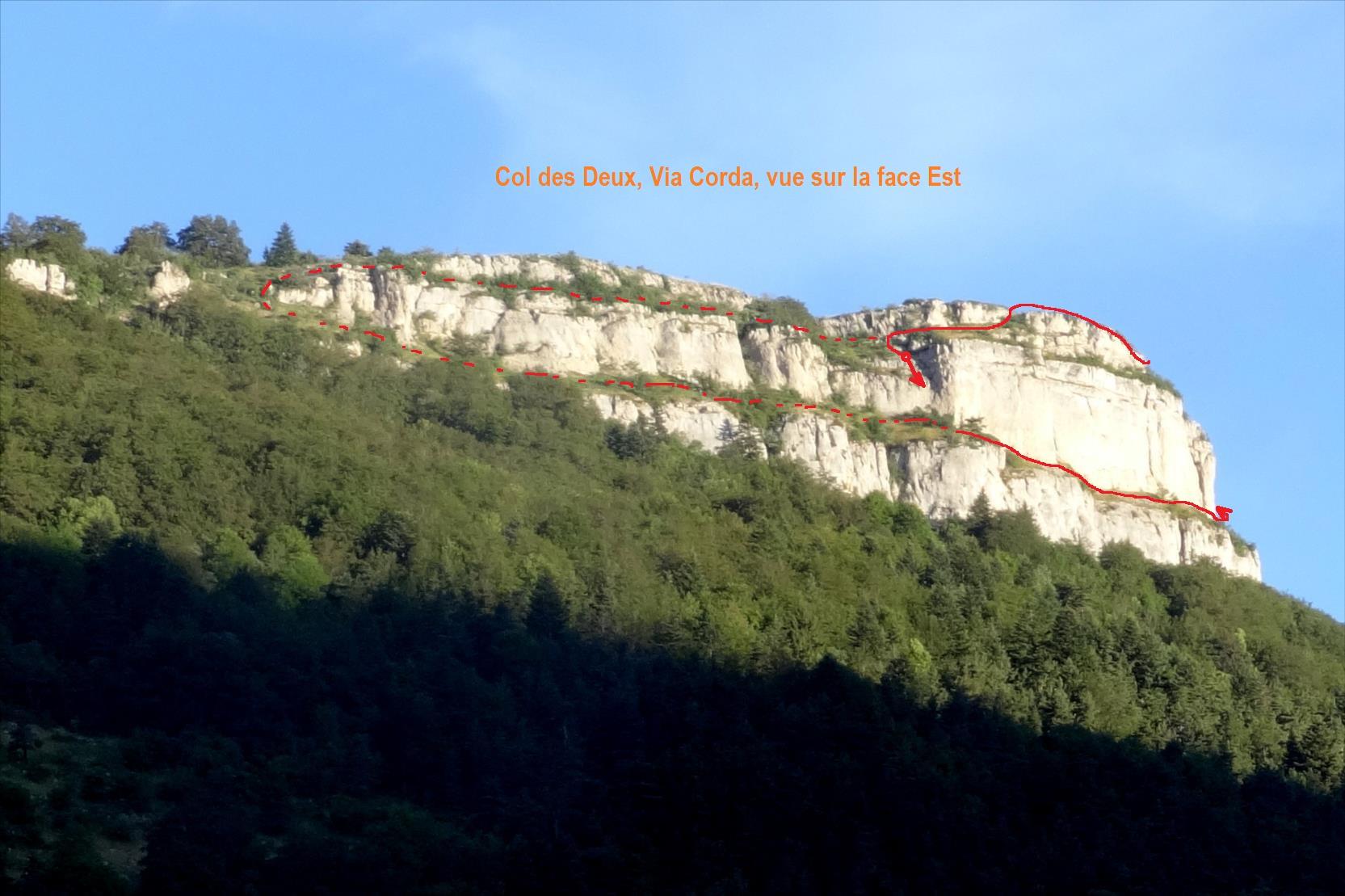 Via Corda du col des Deux, Vercors