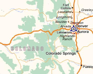 Carte du Colorado
