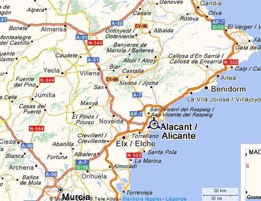 Escalades autour d'Alicante en Espagne