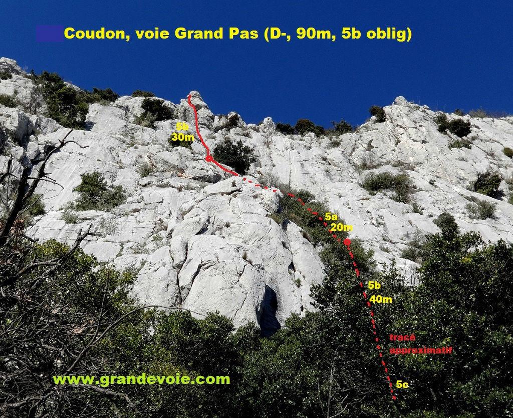 Le Coudon, voie `Grand Pas`, Provence (Toulon)