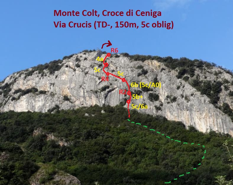 Monte Colt, Croce di Ceniga, près d`Arco, via Crucis