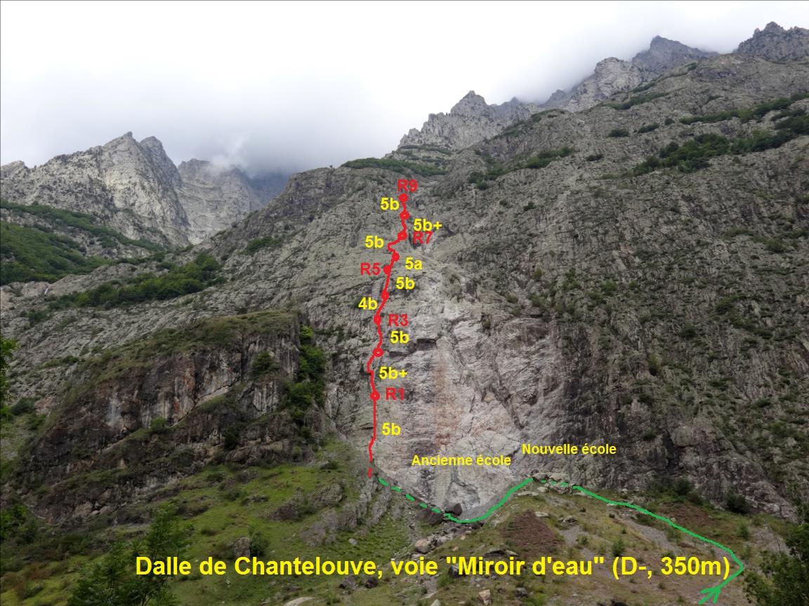 Dalle de Chantelouve, voie `Miroir d`eau`, Taillefer