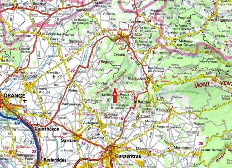 Grandes voies d`escalade aux Dentelles de Montmirail