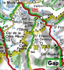 Carte du Dévoluy