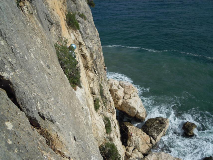 Escalade en Sardaigne, à Cala Gonone