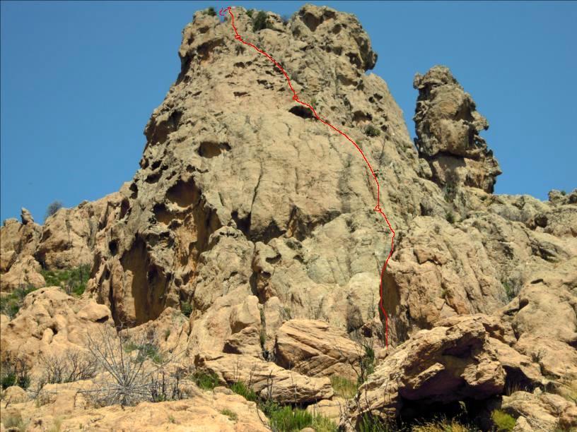 Arête de Zirubia, col de Tana, Aullène près de Bavella, Corse