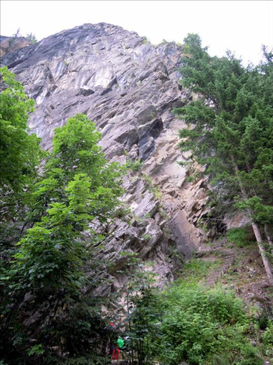 Ecole d`escalade de la Fraîche, voie `L`Arête`, Vanoise