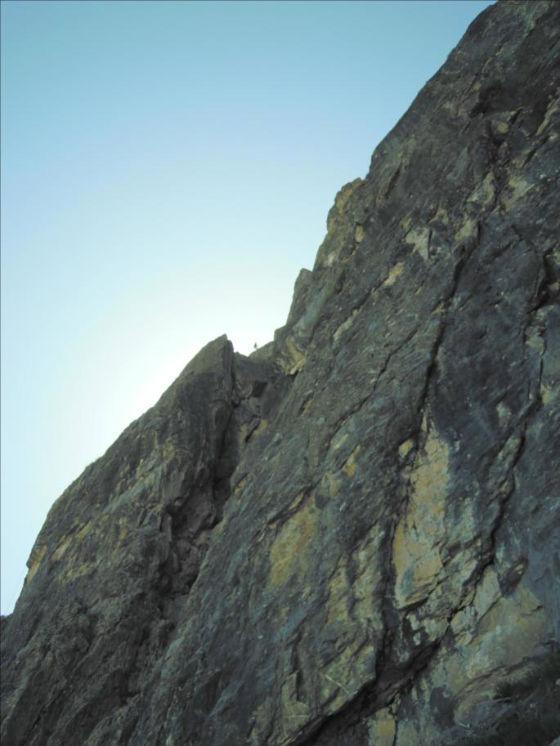 La Grande Parei, voie `C`est pas le Pérou`, Vanoise
