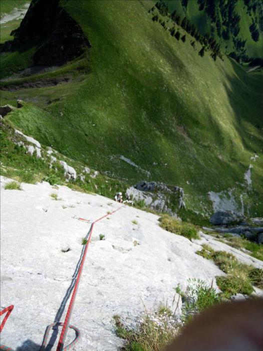 Cornettes de Bise, voie `Les Marmottons`, Chablais