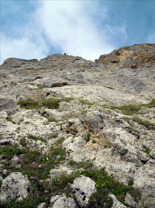 Montagne de la Grande Val, voie des Edelweiss, Vanoise