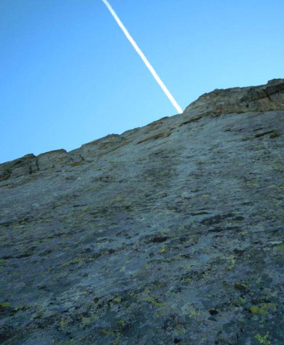 Cime des planettes, voie `Bal du Cosmos`, Vanoise