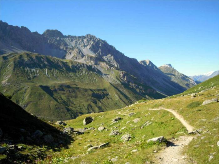Cime des planettes, voie `Bal du Cosmos` (descente du Col d`Aussois), Vanoise
