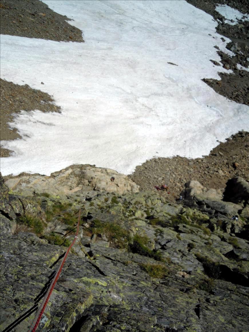 Aiguille de la Glière, voie `Modern Time`, Chamonix