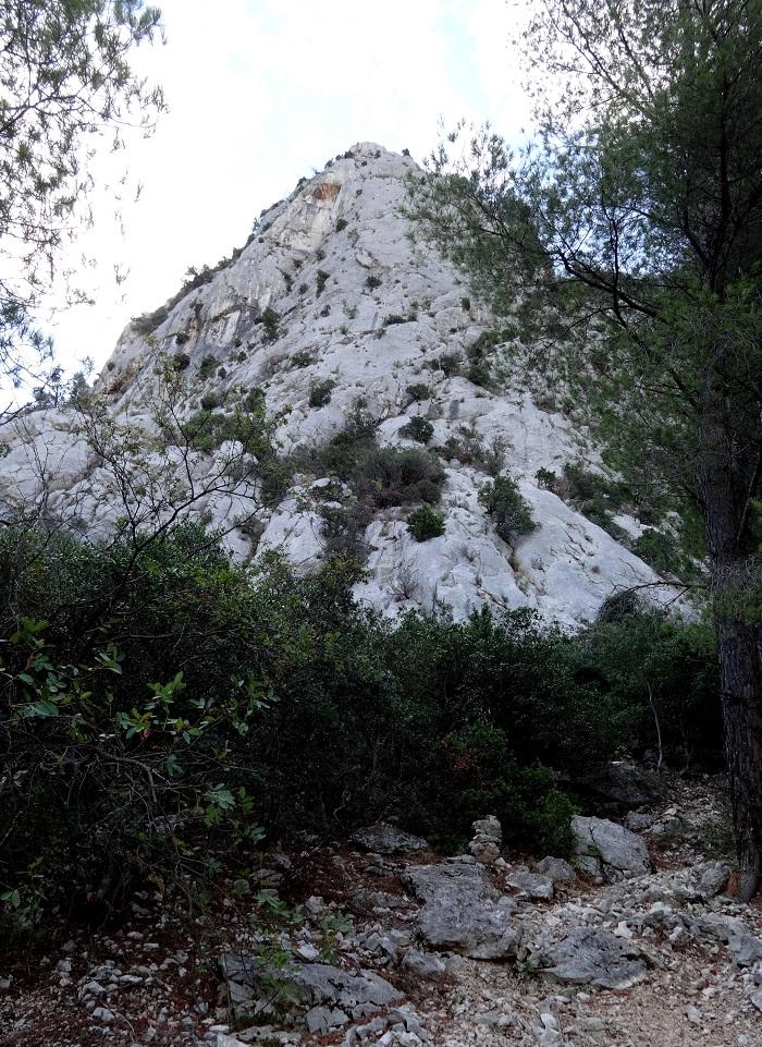Mont Faron, voie `Dans les pas de Fred`, Provence