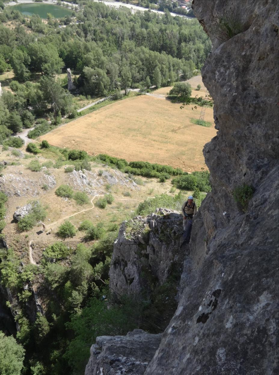 Gorges de la Biaysse, voie très à gauche, longueur L4, Val Durance
