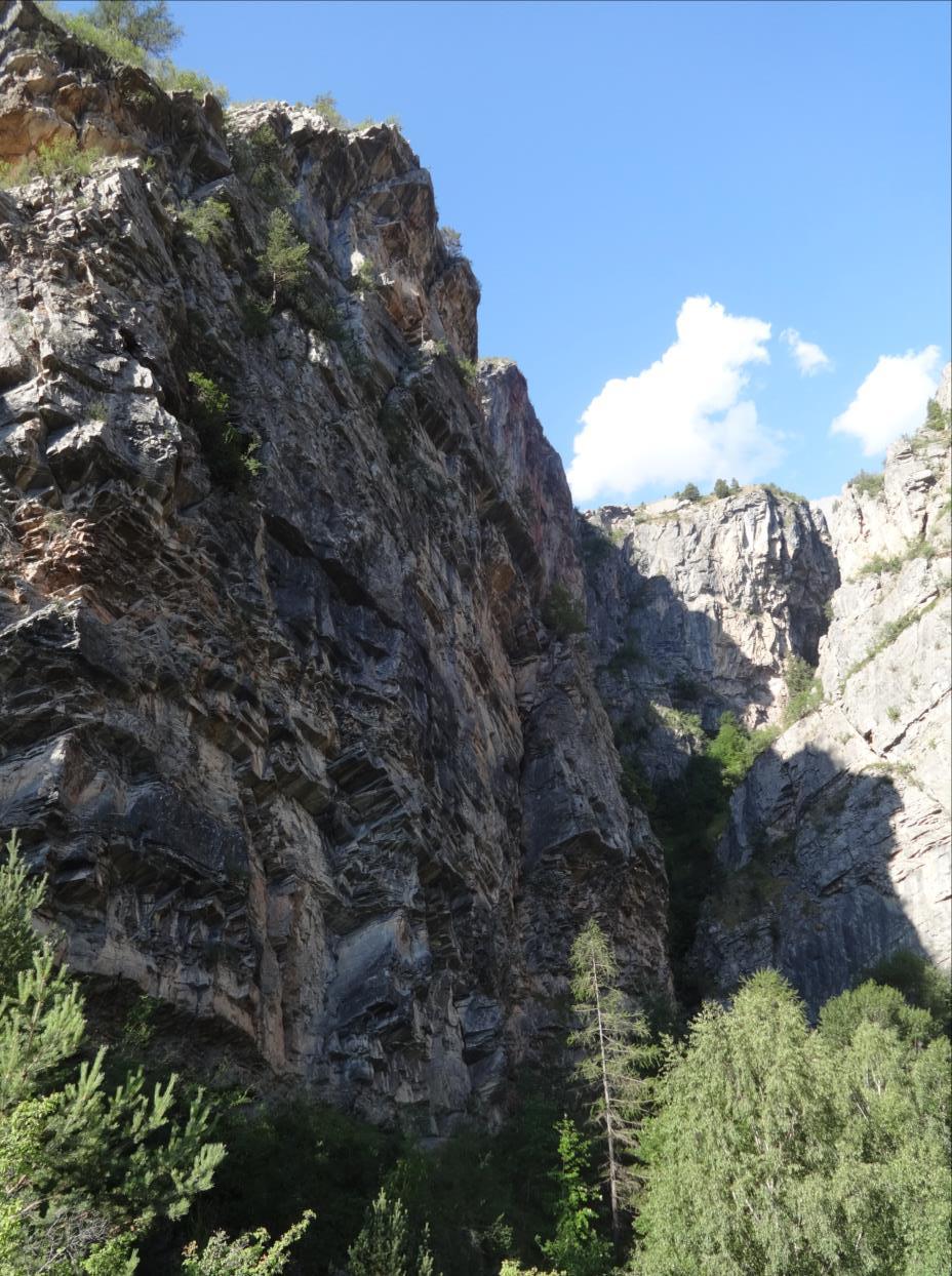 Gorges de la Biaysse, voie très à gauche, Val Durance