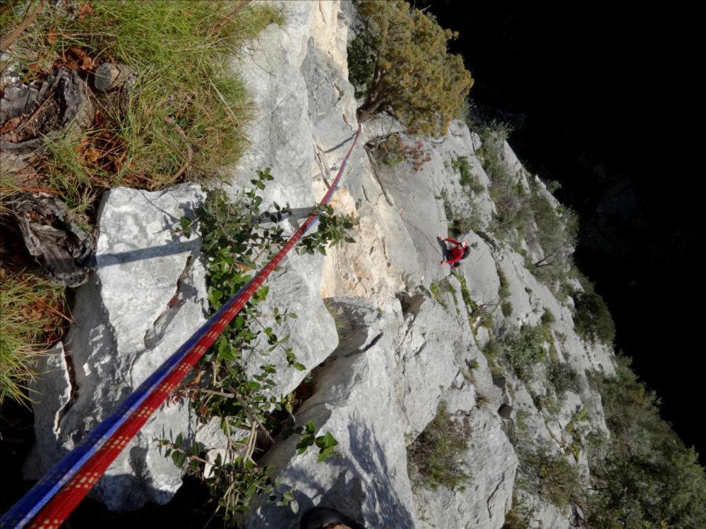 Gorges du Destel près de Toulon, voie `Kapadokya`, L5