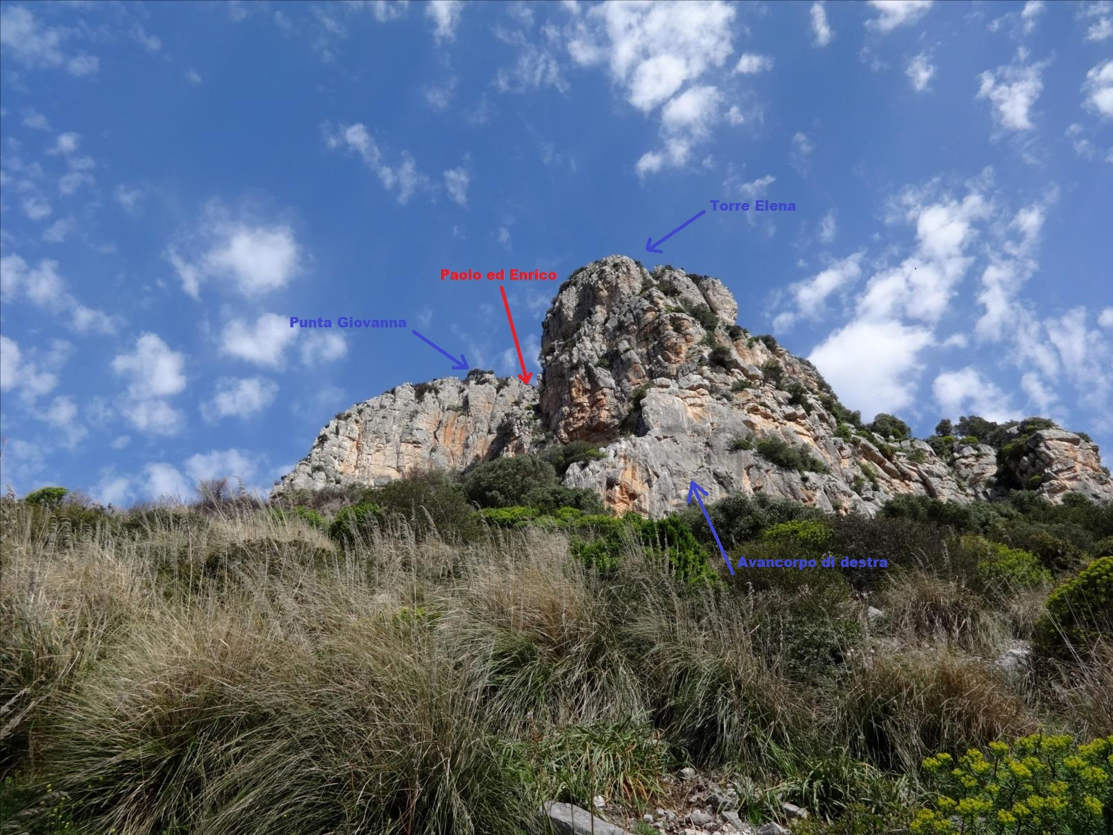 Montagne de Leano, voie Paolo ed Enrica, Latium (Italie)