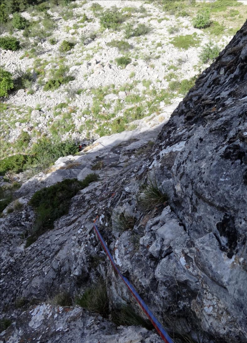 Le Piéroux, voie Gic N Roll ou Pas Gicon que ça, longueur L1, Dévoluy