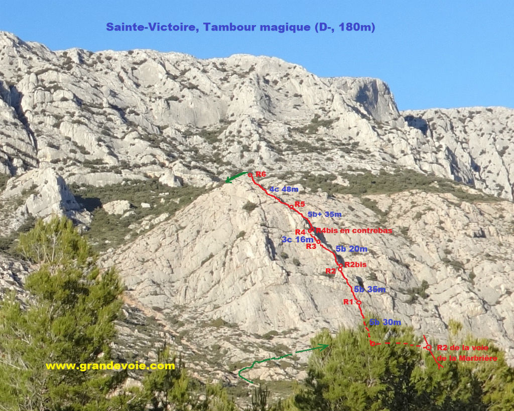 Sainte-Victoire, voie du Tambour Magique, Provence