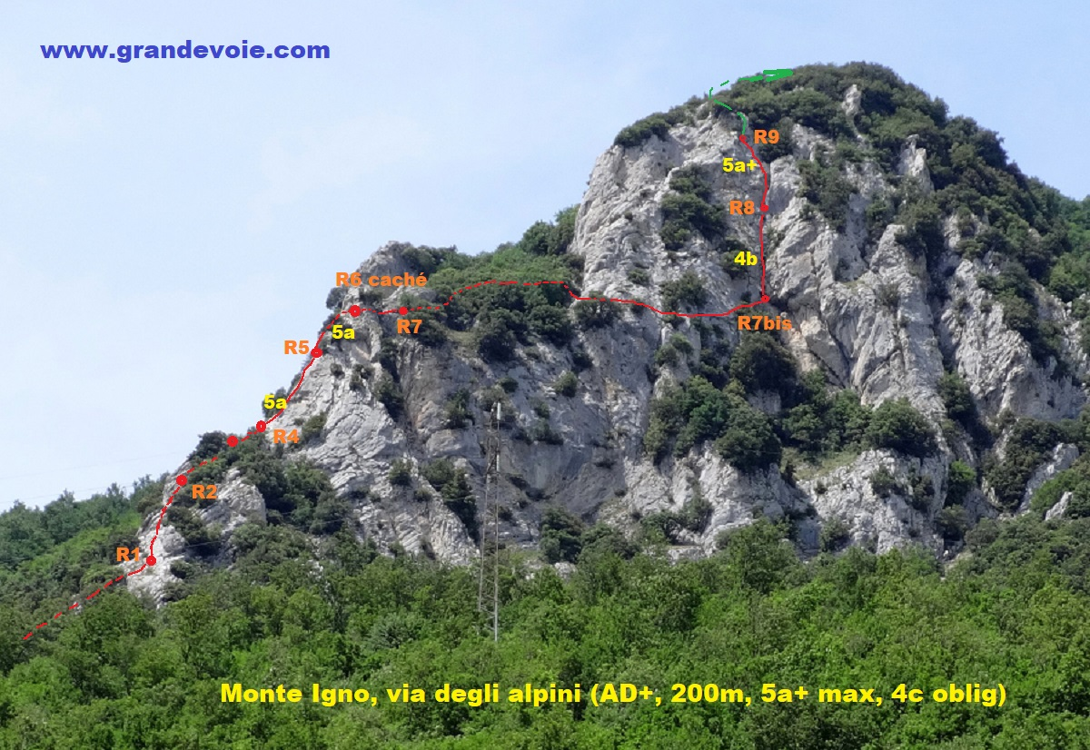 Monte Igno, via degli alpini, Marches italiennes