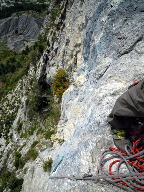 Voie `N`importe où hors du monde`, L4, Quiquillon, Orpierre (Hautes-Alpes)