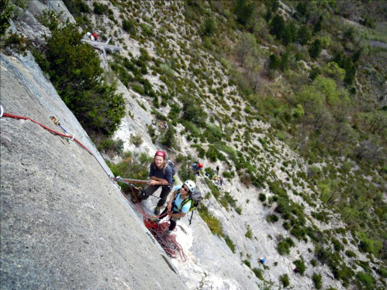 Voie `N`importe où hors du monde`, L2, Quiquillon, Orpierre (Hautes-Alpes)