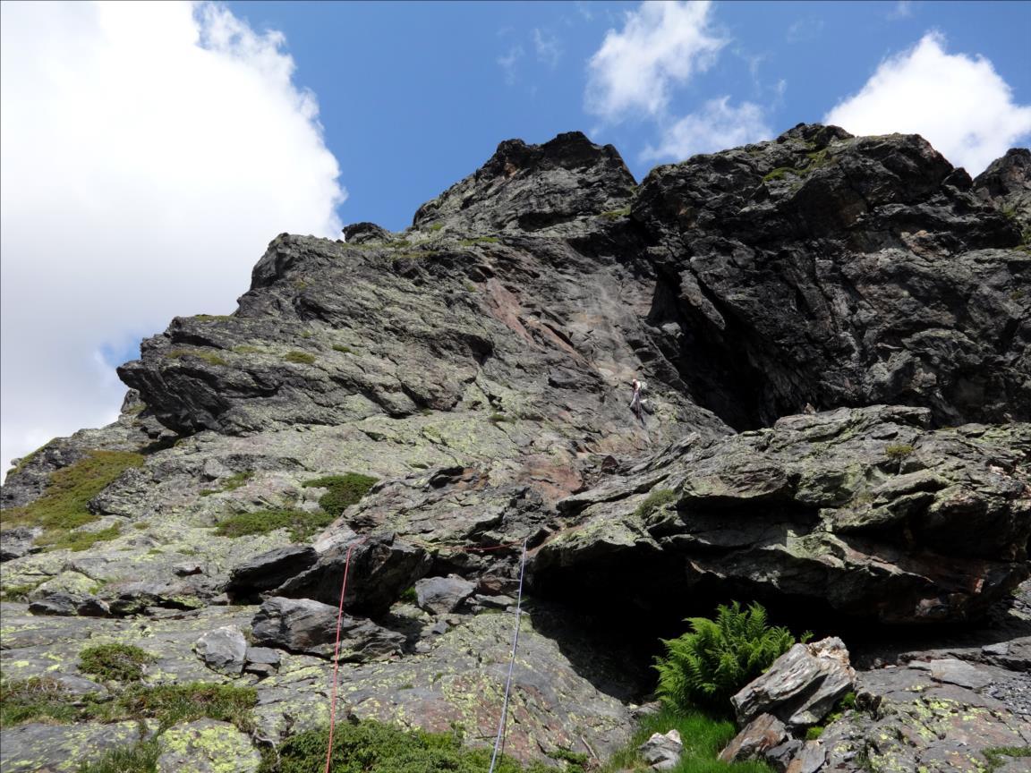 Barre des Colombettes, voie Polochon (longueur L6), Vanoise