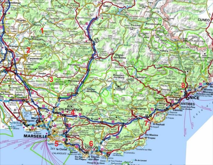 Provence et Côte d`Azur, grandes voies d`escalade
