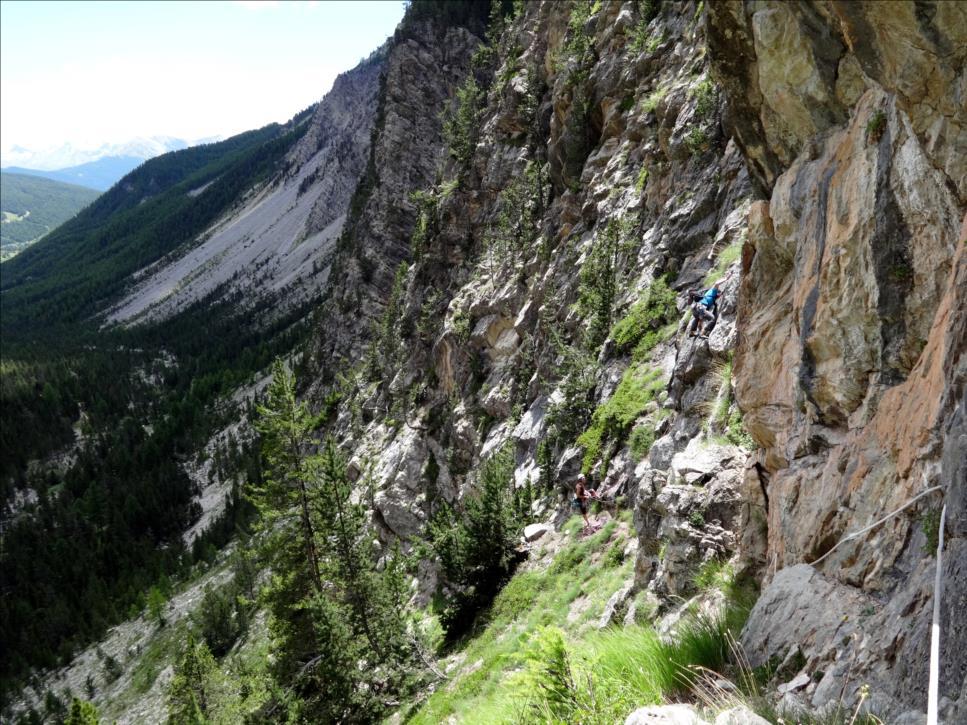Combe la roche, L5 de la voie Anopham, Queyras