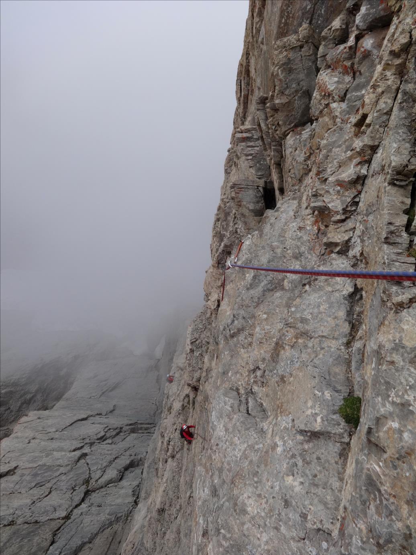 Rocca Rossa, voie Pépito, longueur L7, Queyras