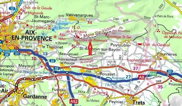 Grandes voies d`escalade à la Sainte-Victoire