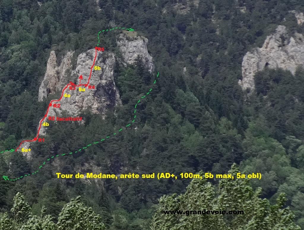 Tour de Modane, arete sud, Maurienne