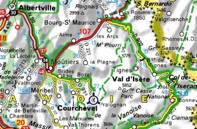 Carte de la Vanoise